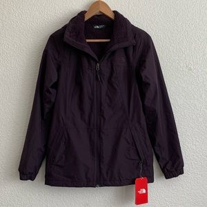 "North face galaxy purple ""Louisa rain jacket"""